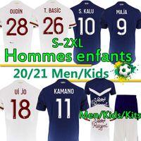 성인 어린이 키트 Girondins 드 Bordeaux Maillot de Footbal Shirt 2020 2021 축구 유니폼 S.Kalu Ben Arfa Maja Oudin T.basic 남자 태국어 유니폼