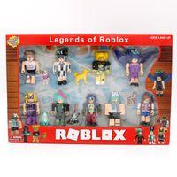 Roblox World Девять рисунок Пакет 7 см Модель куклы Мальчики Детские игрушки Jugetes Сборные фигурки Сбор Figuras Рождественские подарки для детей Y0112