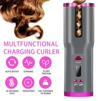 Cordless Automatic Hair Curler USB Rechargeable Auto Air Curlers for Curls LCD Display Ceramic Curling Hair Styling Tools