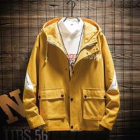 Giacche da uomo Uyuk autunno inverno inverno moda casual moda allentato tendenza plus-size con cappuccio stampato patchwork color a contrasto giacca vestiti