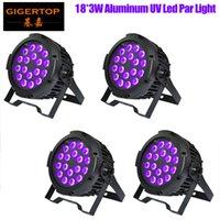 Gigertop 4 Unità 18x3w Discoteche luci UV Violet Black Lights DJ Luci DJ PAR Lampada a LED per partito Eventi di nozze Eventi Lighting Stage Laser Projector