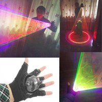 RGB Laser Whirlwind multicolore Laser Vortex Man fase forniture Guanti LED Nightclub Performances