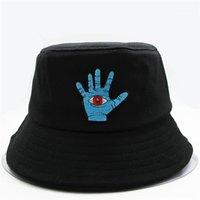 Cloches 2021 Stil Palm Nakış Kova Şapka Balıkçı Açık Seyahat Erkekler ve Kadınlar için Açık Seyahat Güneş Kap Şapkalar 511