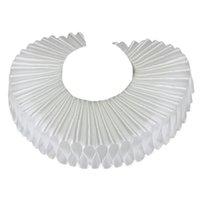 Satin desmontable collar falso redondo arrugado volantes collar gargantilla boda zapato satinado de qylphe