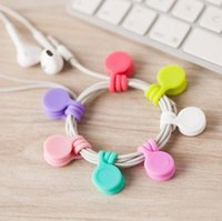 Écouteurs en silicone cordon Winder Câble USB Dragonne Support Organisateur magnétique Gather Clips de Gestion des signets multifonction YL1096