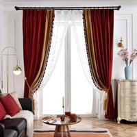 Занавес драпов Американский свет роскошный стиль павлин зеленые занавески для гостиной спальня бархат