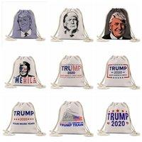 حقيبة التخزين ترامب التعادلات حبل حقيبة الرئاسية الأمريكية الانتخابات ترامب مطبوعة أكياس الهواء الطلق على ظهره الرباط الجيب FoldableStorage حقيبة LSK541-1