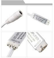 LED Amplifikatör RGB Amplifikatör Mini Şerit Amplifikatör Sinyal Tekrarlayıcı LED Kontrol Cihazı 12 V DC 5050 3528 için Esnek LED Şerit