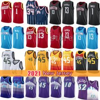 Donovan 45 13 Mitchell Harden John 1 Wall Basketball Jersey Hakeem 34 Olajuwon John 12 Stockton Karl 32 Malone Jerseys