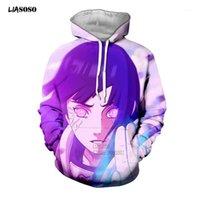 Liasoso Sweat Sweatshirt 3D Imprimer Unisexe Anime Uzumaki Hyuga Hinata Howata Sweats à capuche Kakashi Sakura Tops x22891