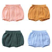 Kind kleidung baby kurze hosen einfarbig baumwolle leinen falten sommer junge mädchen babys kinder kleidung unisex kinder shorts 8 3sk l2