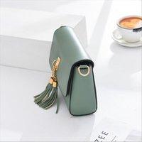 2020 Neue Mode Moderne Einfache Hochgefühl Tasche Vielseitige Frauen Handtasche Crossbite Fremdstil Breitband Mode Kuhleder