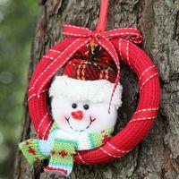 Бесплатная доставка Рождество маленький клетчатый европейский стиль гирлянда пены кулон ручной работы венок елочные украшения для пожилых F8503