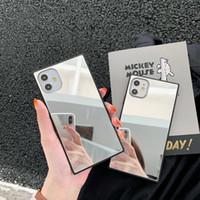 Espelho Phone Case para iPhone 12 11 mini-Pro MAX XS XR 7 8 mais SE 2 back shell tampa