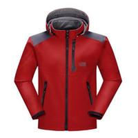 Uomini Giacca impermeabile traspirante Softshell All'aperto Uomini Sport cappotti sci escursionismo invernale antivento Outwear Soft Shell uomini escursioni giacca