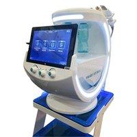 2021 Arma de Oxigênio RF Aqua Scrubber Dermabrasão Hydra Máquina Facial Hydrafacials Análise de Pele Smart Ice Blue Azul Cuidados com a pele ultra-sônica
