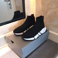 Мужчины Женщины Повседневная Обувь Носок Скорость обуви 2.0 Спортивные Трикотажные Стреенные Кроссовки Скорость Тренер Носка Гонка Комфорт Черная Обувь Белый Орео B4
