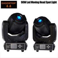 TIPTOP 2XLOT 90W LED bewegliches Hauptpunkt Bühnenbeleuchtung 6/16 DMX-Kanal-Hallo-Qualität Heiße Verkäufe 90W Prism Led Moving Light New Digital Display