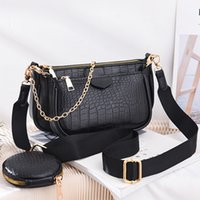 Crocodile Brand Baguette Crossbody Fashion 2020 1 Shoulder 3 Pattern Pu Bag Leather Mahjong Luxury For Women In Handbag Aitdj
