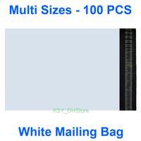 """100 ADET Çok Boyutları Beyaz Poli Posta Torbaları Yastıklı Zarflar Postacılar (110mm - 305mm) X (180mm - 400mm) (4.3 """"ila 12"""") * (7 """"ila 16"""")"""