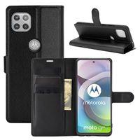 Litchi Motif Flip PU Cuir Portefeuille Portefeuille Pour Moto G 5G G9 Power Play E7 One Fusion E 2020 G8 Fast Plus