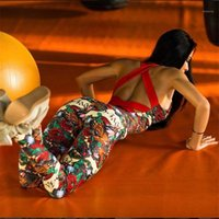 Yoga Outfits Женская спортивная одежда набор наборов ансамбль сексуальный спортзал носить комбинезон флористический цветочный трексуит бегущий одежда фитнес спортивный костюм1