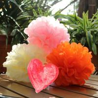 Fleurs décoratives Couronnes de 30 pcs / Lot 6 pouces 15cm Papier de soie Pom Poms Ball Pompom Decoration Decoration Anniversaire pour Fêtes1