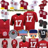 Personalizado 2021 Alabama Jersey Jersey Najee Harris Smith Jaylen Waddle Namath Mac Jones Trey Sanders Metchie III Bryce Young Surtain II Juventude