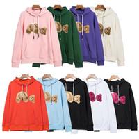 Горячая распродажа мода с капюшоном гильотина медведь толстовка плюшевый мишка мода махровый взрывающий свитер стиль мужские и женщины размер S-XL