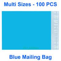 """Çoklu Boyutları 100 ADET Mavi Poly Posta Çantası Sigara Yastıklı Zarf Mailer - (- 16 Inch 390mm, 7 Uzunluk 180) (Genişlik 110 320mm, 4.3"""" 12.5"""" e) x"""