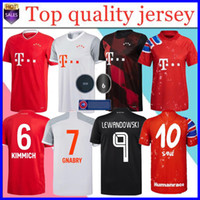 Ventilateurs / Joueur Version 20 21 Bayern Munich Football Maillots SANE LEWANDOWSKI Bayern ZIRKZEE Gnabry Football Shirt DAVIES Mens Jersey Enfants Kit
