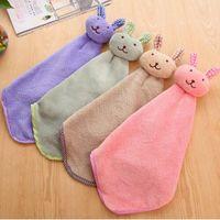 لطيف الطفل الحضانة اليد منشفة الحمام لينة أفخم الكرتون الحيوان يمسح شنقا مناشف الاستحمام للأطفال (1 قطعة عشوائية) H5