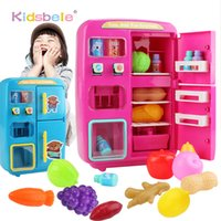Children Pretend Play Toys Simulation Double Refrigerator Ve...