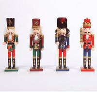 30CM 나무 크리스마스 호두 까기 인형 군인 인형 ZAKKA 창조 데스크탑 장식 대형 크리스마스 장식품 그리기 호두 군인 (88)