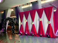 3x6m حفل زفاف خلفية الستار الزفاف الستائر / مرحلة خلفية لحضور حفل زفاف eventpartyketquet الديكور (غطاء كرسي ليكرا) 200929