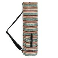 Fitness-Speicher mit Taschen-Yoga-Matt-Tasche einstellbarem Gurt ethnischer Art Mobiltelefonträger Einzelner Schulter voller Zip-Leinwand