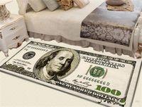 Tapis Crairy Slip Slip Tapis Moderne Home Decor Tapis Dollar Dollar Tapis imprimé Cent dollars 100 Bill Imprimer