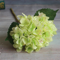 Forniture per feste Artificiale Hydrangea Flower Head 47 cm Seta finta Singolo Real Touch Hydrangeas 8 Color Wedding Centerpieces Home Flowers 154 G2