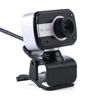 HD Webcam com Mic LED Flash PC Desktop Web Câmera CAM Mini Computador Web Camera Web Video Gravando Webcams