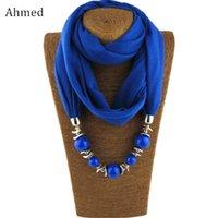 Colares de pingente Ahmed Bohemian Beads colorido lenço colar para mulheres charme cachecóis declaração moda jóias colarinho bijoux