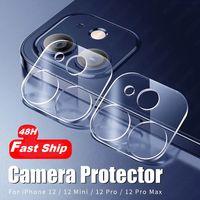 48 Stunden Fast Ship Back Camera-Objektiv-Schutz-gehärtetes Glas für iPhone 12 Mini 11 Pro Max Kamera-Beschützer für iPhone x XR 6s 8 Film Plus