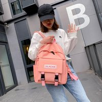 Girl Trend Women For Teenage School Mochila Schoolbag New Shoulder Bag Solid Color Casual Backpack Classical Fashion Female Bjvui