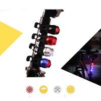 Luzes de bicicleta luz da cauda de bicicleta LED Realce Liga de alumínio Ruby Traseira CNC Capacete de Segurança Aviso1