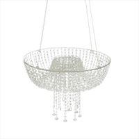 18 pollici cristallo lampadario in stile swing Drape sospeso basamento della torta rotonda Hanging torta centro di nozze Rack