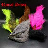 Royal Sissi 5 ألوان جديدة كبيرة بشمال باكتيل ستراند طويل مصبوغ ذبابة ربط باكتيل الشعر مالحة المياه السلالة ذبابة ربط المواد 201104