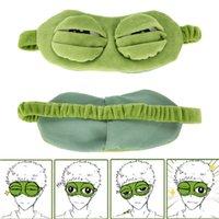 3d sapo bonito Olhos Máscara capa de pelúcia a Sad Eye máscara verde Capa Relaxe Dormir Ferramentas curso descanso sono Anime engraçado beleza presente