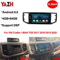 Yazh Android 9.0 Auto Radio Player pour VW Crafter / Man TGE 2017 2018 2019 2020 Navigation de la tête DVD avec Bluetooth 5.0 GPS Navigation