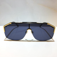 0291 Популярные солнцезащитные очки для мужчин женские мода маска унисекс солнцезащитные очки наполовину каркасным покрытием зеркало объектива углеродное волокна ноги летний стиль 0291s