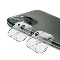 Caméra de téléphone portable clair 3D Protecteur d'écran entièrement couvert pour iPhone11 Lentille de caméra arrière Iphone12 Iphone12 HD Verre trempé transparent avec boîte