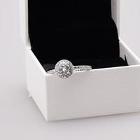 Hot Real 925 Sterling Silver CZ Diament Pierścionek z oryginalnym pudełkiem Zestaw Fit Pandora Styl Ślubny Biżuteria Zaręczyna Dla Kobiet Dziewczyn